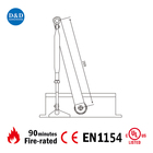 Heavy duty aluminum alloy hydraulic UL CE fire rated two speed door closer for fire door