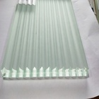 Low iron reeded glass for wall cladding