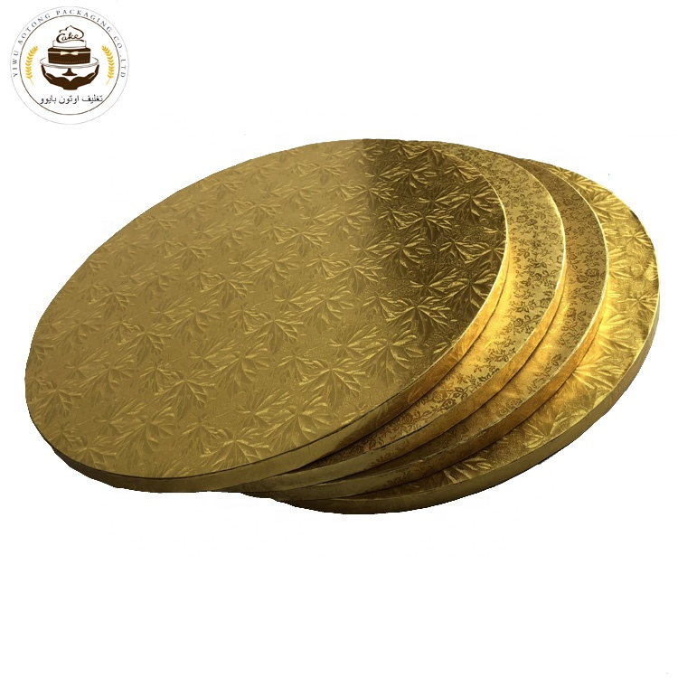 Best Sellers Embossed corrugated board with foil surface cake drum