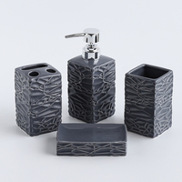 Graceful square bathroom accessories sets bath room bathroom accessory for sale