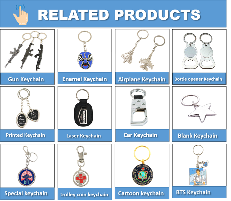 High quality wholesales custom logo metal keychains no minimum