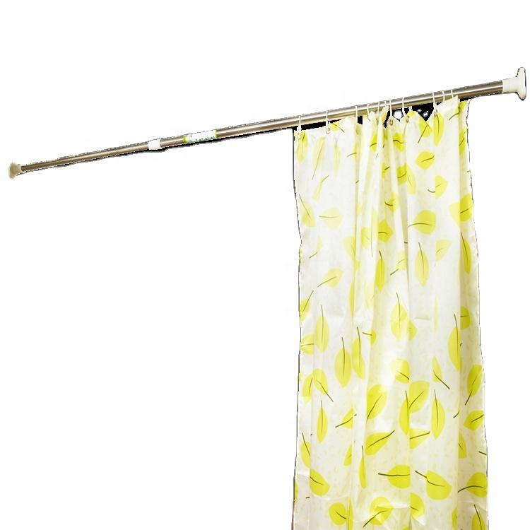 Adjustable Metal Curtain Rod Bathroom Bar Shower Extendable Telescopic Poles Hanger Rods