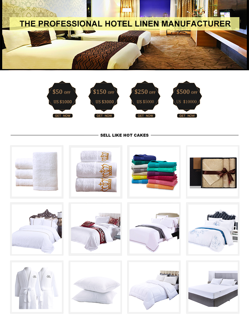 JR012 Perlengkapan Hotel 100% Katun 6 Pcs Hilton Hotel Bedding Sheet Set
