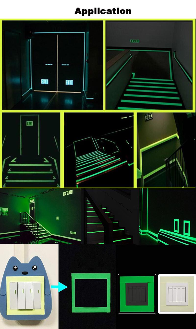 EONBON Freies Proben Gedruckt Selbst-leucht Acryl Board/Photolumineszierende Leuchten Blatt