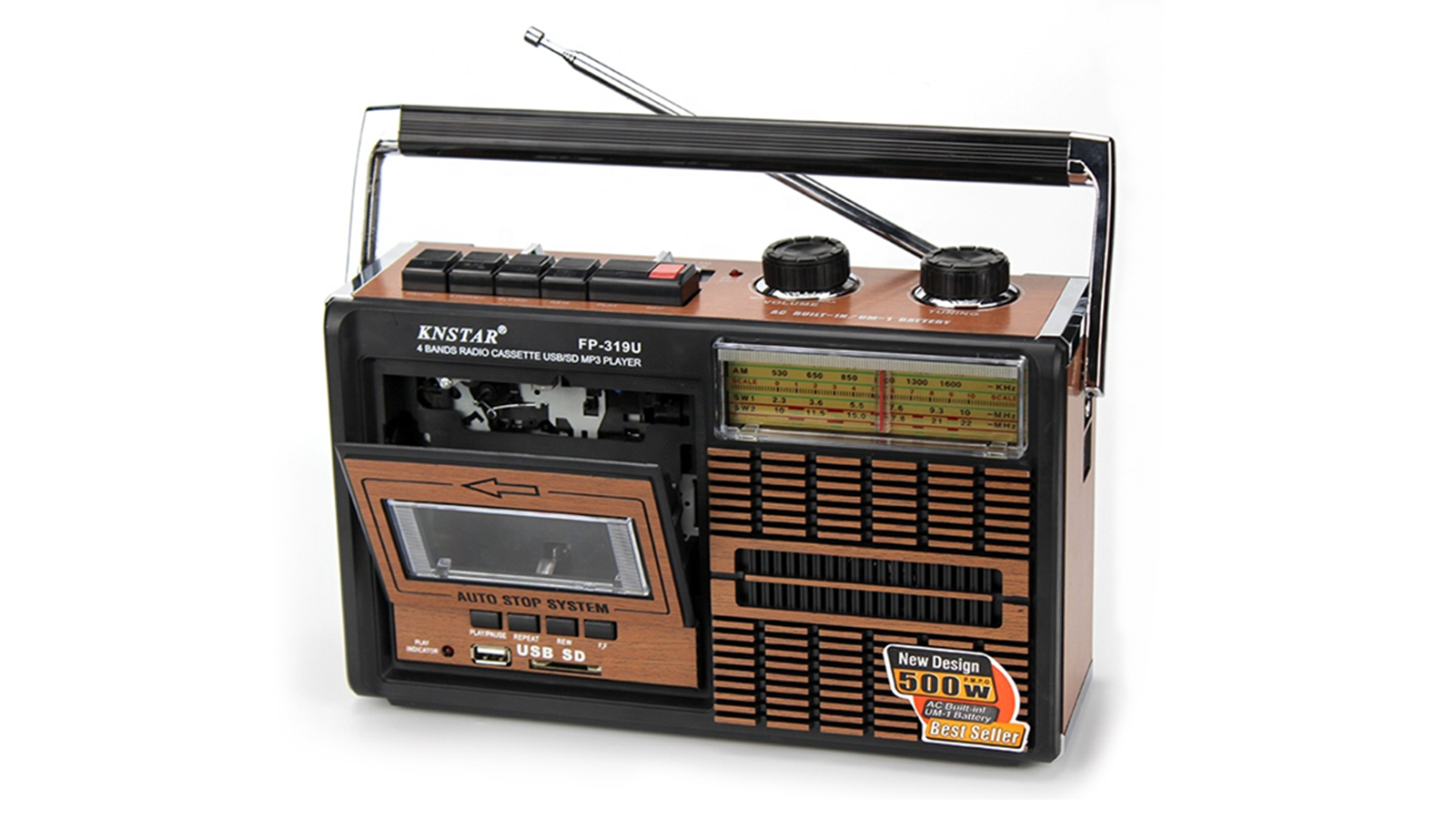 Hot Vendas Fp-319U Usb Sd Mp3 Jogador Retro Cassete Rádio Multibanda