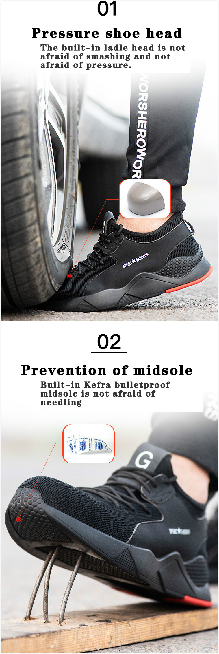 TZLBX-132 Fashionable steel toecap lightweight  work safety shoes
