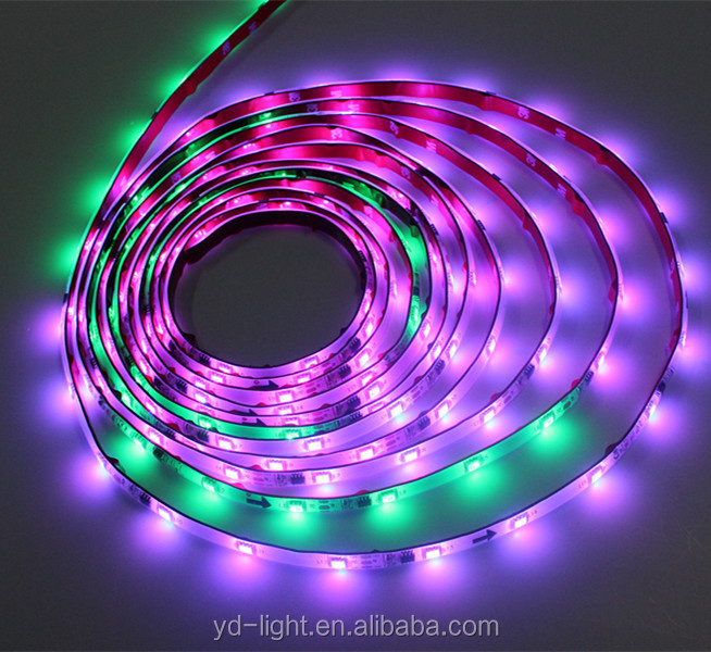 Dekoratif Strip LED RGB 60LED/M LED Strip RGB Warna SMD 5050 RGB LED Strip Tahan Air