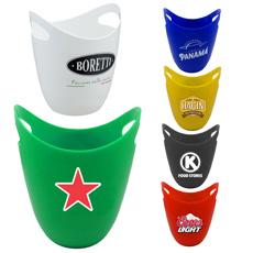 热卖船型户外便宜价格环保 PS 塑料五颜六色双手柄冰桶与个人标志印刷