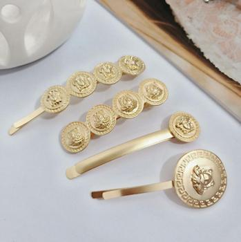 Fashion jewelry retro coin beauty avatar hairpin side clip word clip