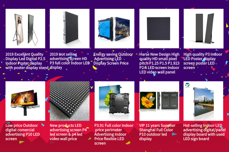 Full Color P2.5 P3 P5 Indoor customized Hexagon led Display Screen Special Shape LED Display Panels
