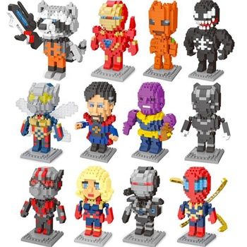 Hot Sell Marvel Super Hero Building Blocks Toys Spiderman Man DIY Diamond Particle Compatible for LegoING Gift