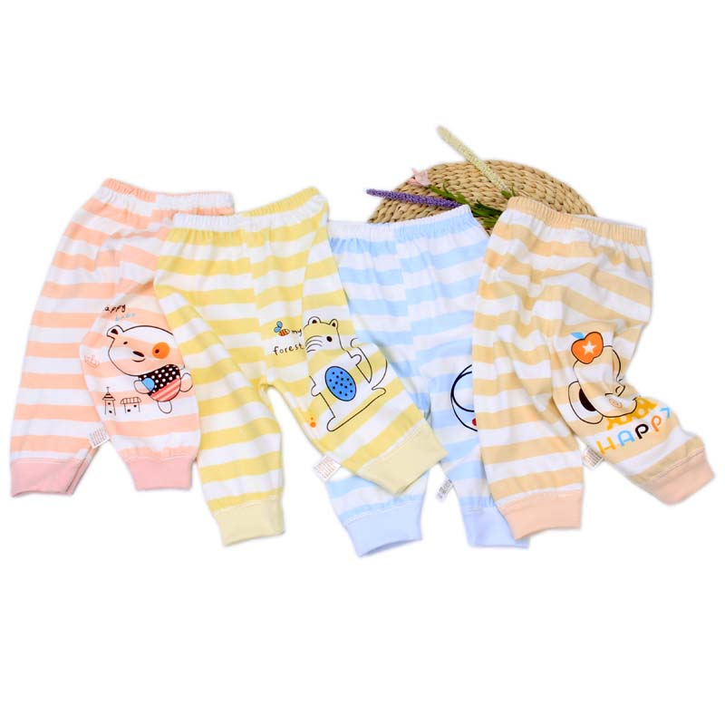 Wholesale baby clothing 2020 new design spring and autumn baby pajamas knitted pants 0-3 years old baby clothing pants
