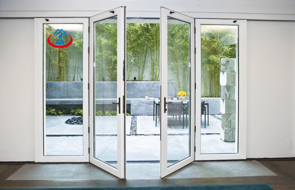 product-Guangzhou Aluminum Window and Door Tempered Glazing Interior Swing Patio Door for Sales-Zhon