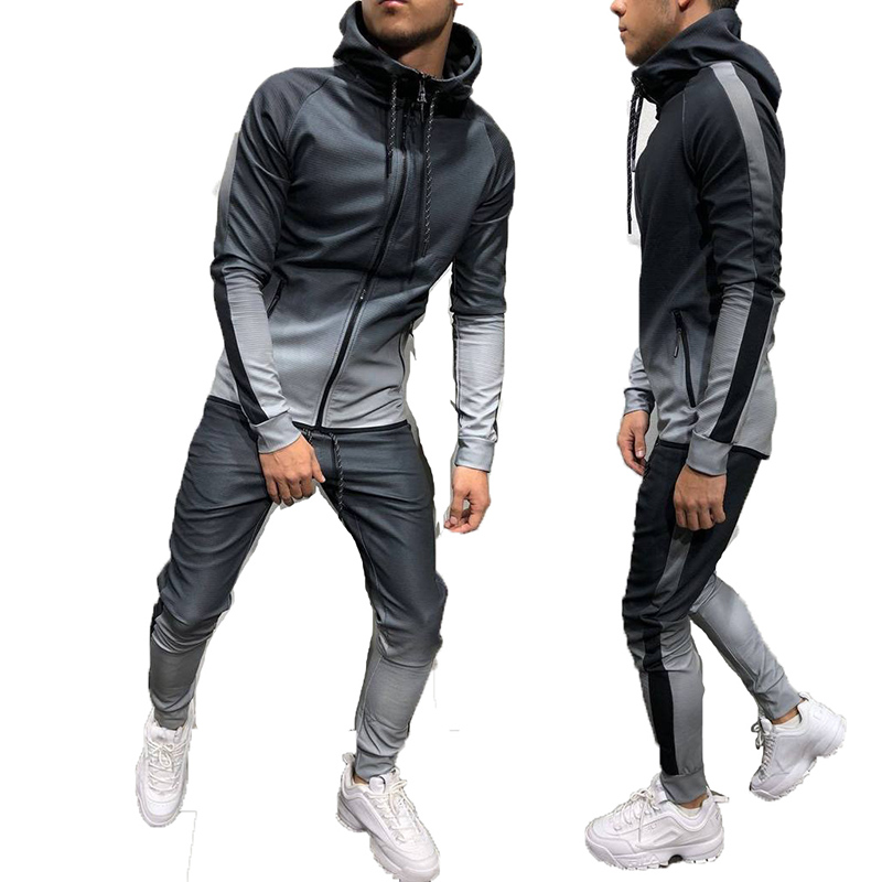 Wholesale Mens tie die printing tracksuit slim fit Jogging Track Suit