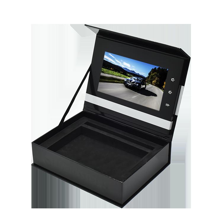 מותאם אישית באיכות גבוהה קידום מכירות מגנטי וידאו אריזת מתנה Lcd מסך וידאו תצוגת תיבה