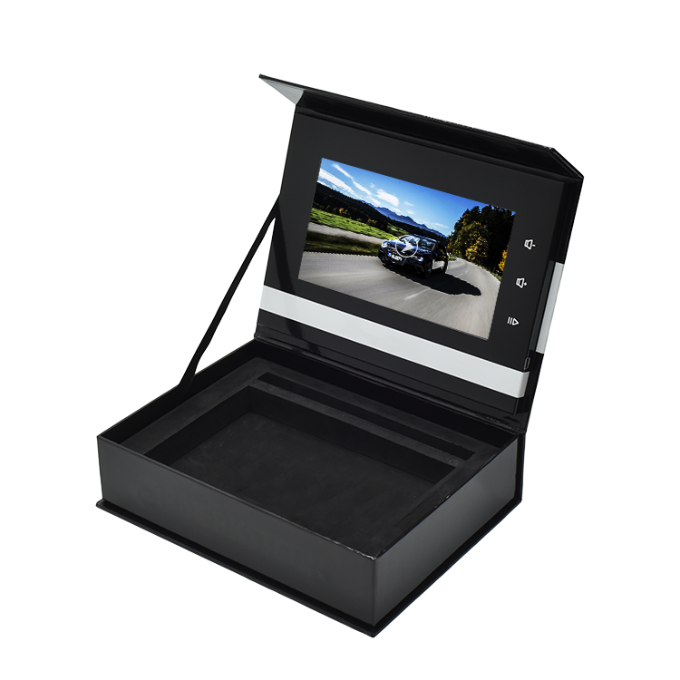 अनुकूलित उच्च गुणवत्ता प्रचारक चुंबकीय वीडियो उपहार बॉक्स एलसीडी स्क्रीन वीडियो प्रदर्शन बॉक्स