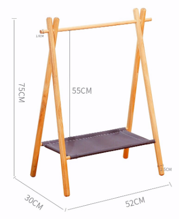 KD wooden hotel clothes hanging rack