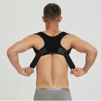 Dropshipping custom color neoprene soft universal posture band strapless spinal brace posture corrector