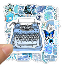 50 шт. мультяшный СИНИЙ INS стиль Vsco девушка наклейка s для ноутбука мото скейтборд багаж холодильник ноутбук игрушечный Ноутбук наклейка F5(Китай)