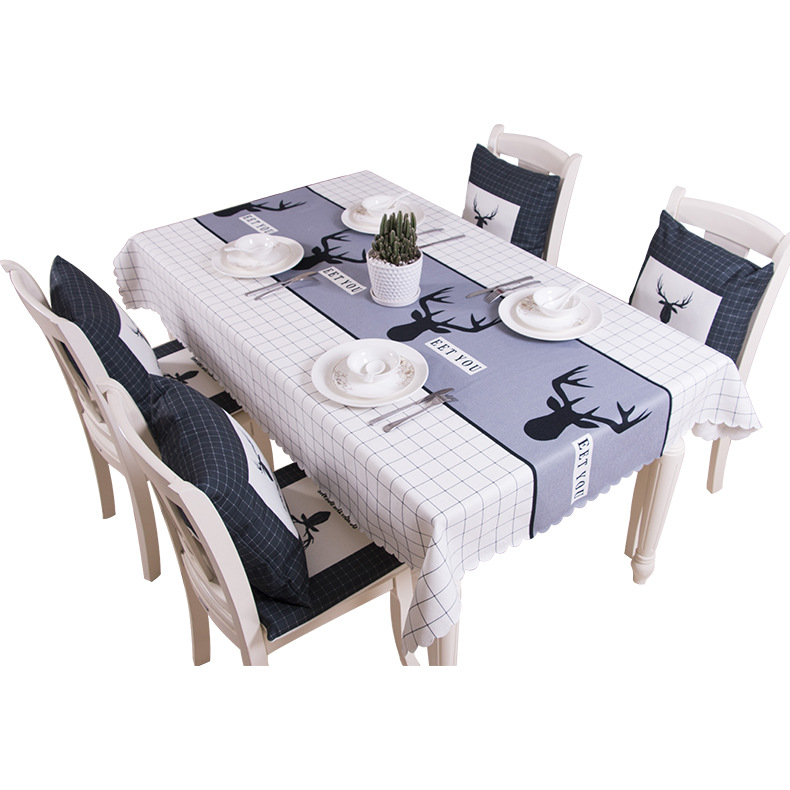 Cotton and linen tablecloth waterproof oilproof tablecloth for square rectangular table and end table tablecloth