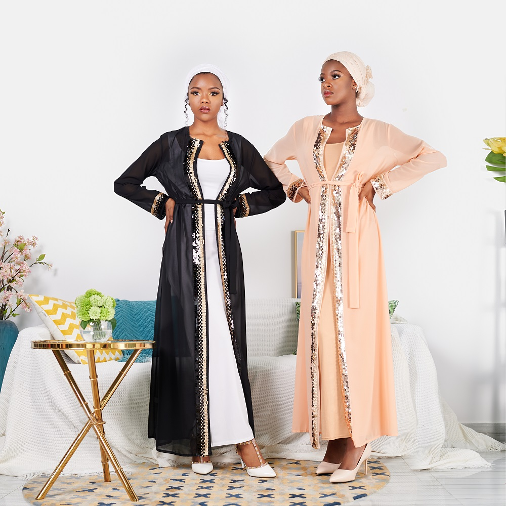 2020 Ramadan EID new dubai abaya kimono cardigan muslim dress women islamic clothing