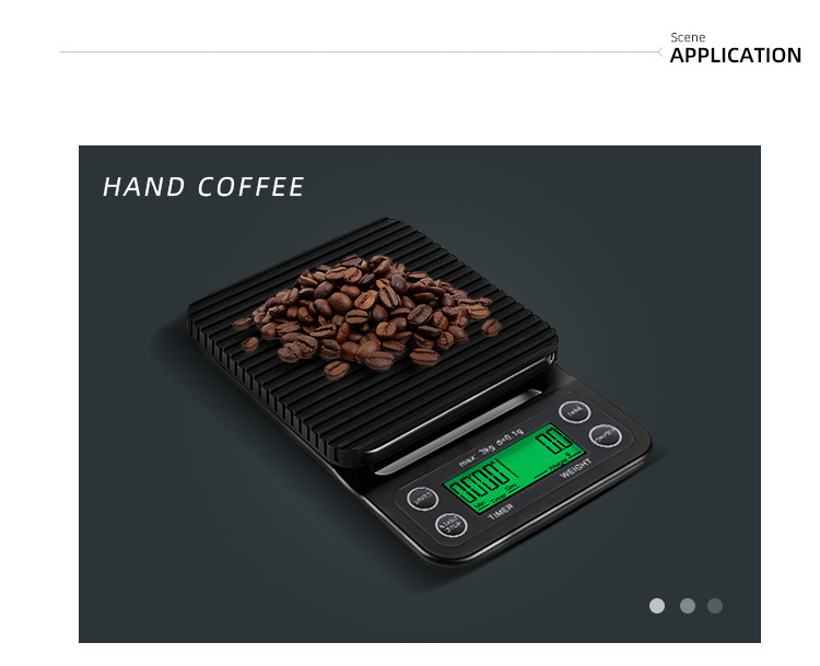 3キログラム/0.1グラムドリップコーヒータイマー電子デジタルコーヒースケール用の上に注ぐコーヒー/バー/キッチンlcd付きグリーンバックライト