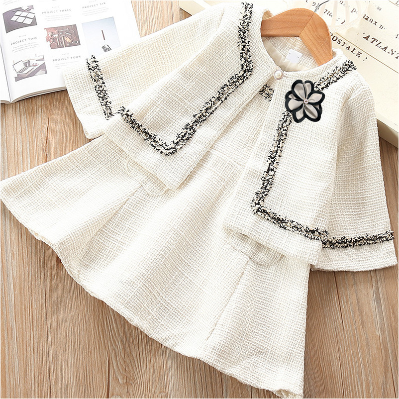 2019 high quality latest fashion kids girls autumn vest dress sets with fair price and fast delivery