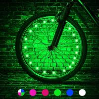Waterproof Colorful Cycle LED Bicycle Spoke Lights/ Bike Tire Accessories LED Bicycle Wheel Lights/USB rechargeable available