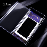 Gollee 03 Korea Synthetic Custom Packaging Vegan Trays Private Label Lovely Professional Single Real Mink Eyelash Extension