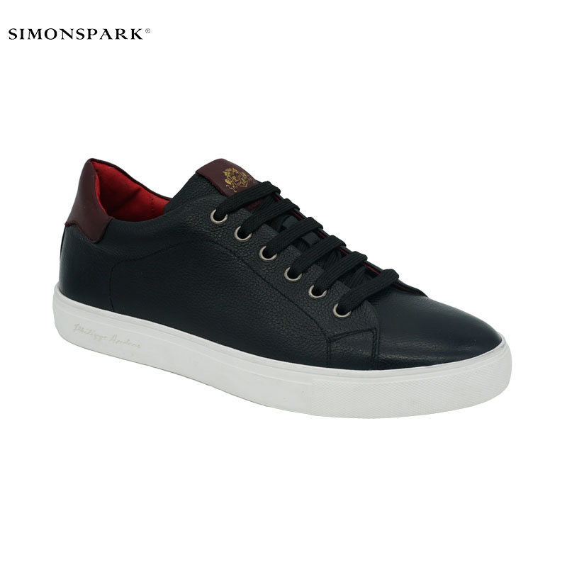 2019 new 인기있는 black genuine leather casual men sneakers sports shoes 대 한 men skateboard shoes
