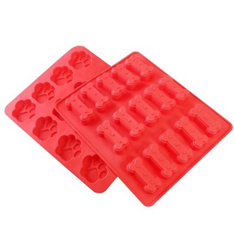 Hund Knochen Footprint Paw Form Keks Cookies Form Backformen Silikon Backen Gebäck Kuchen Form