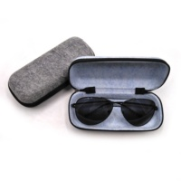 Recyclable frame glasses case travel sunglasses case felt sunglasses packaging with zipper