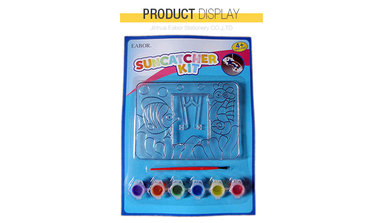 Professional Stained Glass Non-Toxic Suncatcher Paint Kit