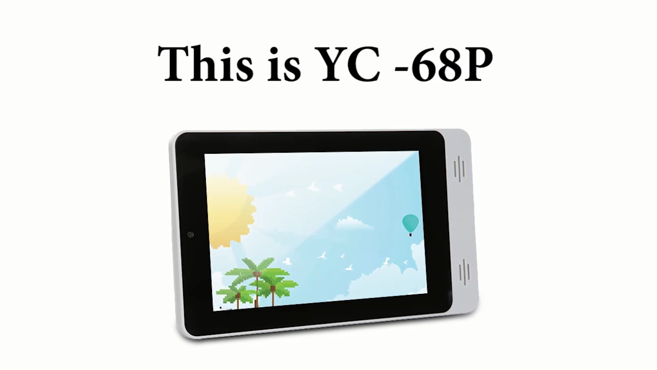2020 YC-68P android 7inch wall mount POE tablet with original IPS touch panel