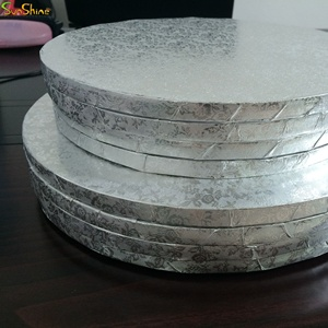 2019 wholesale manufacturer cheaper cake drum wrapped corrugated cake board