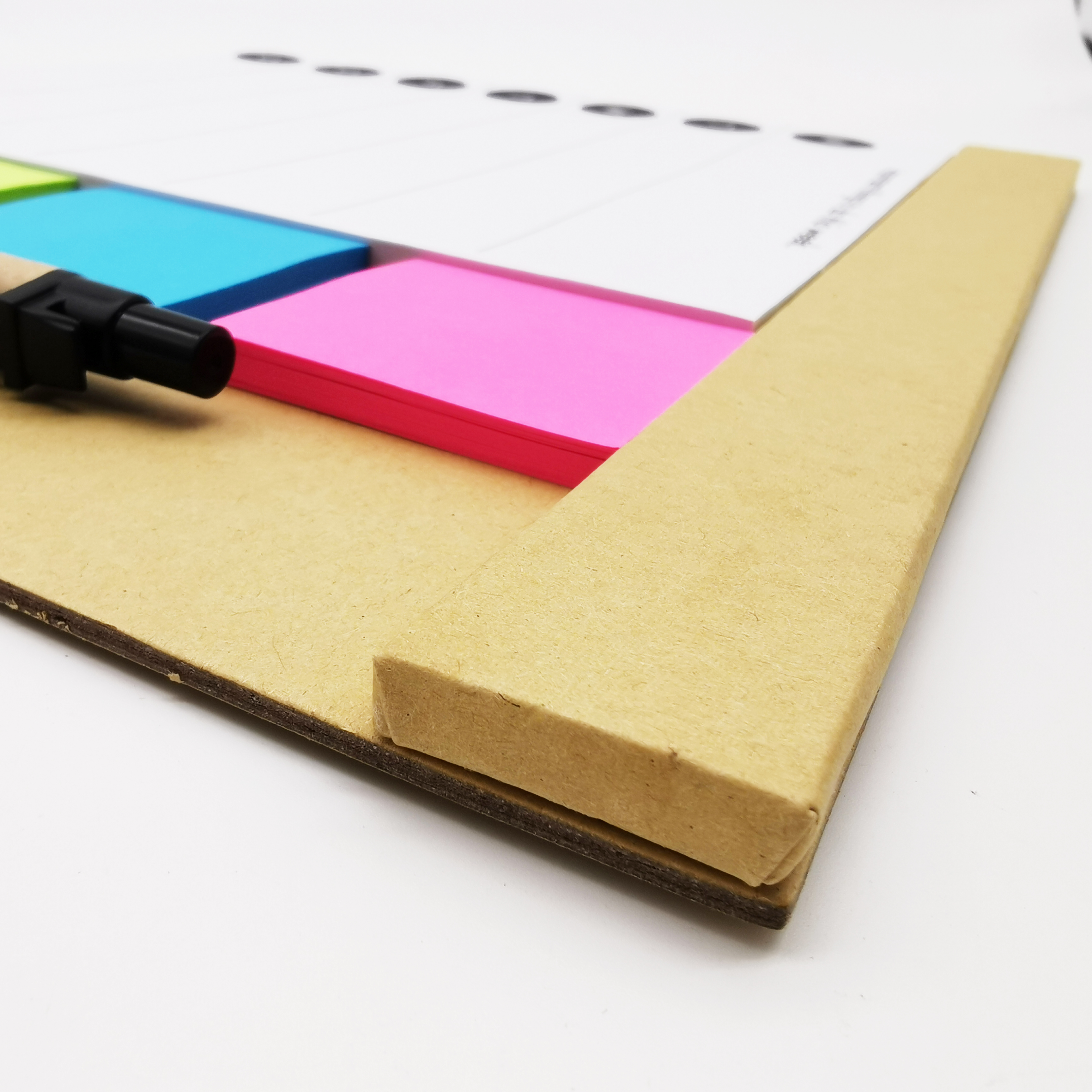 Office Custom Print Promotional Notepad Set With Pen, To Do List Custom Notepad With Sticky Notes