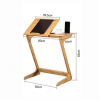 Desktop 5 gear adjustment cabinet bedside foldable reading table with card slot