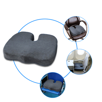 Office Chair High Density Relieves Back Tailbone Prostate Hemorrhoid Memory Foam U Shape Seat Cushion With Anti Slip Bottom