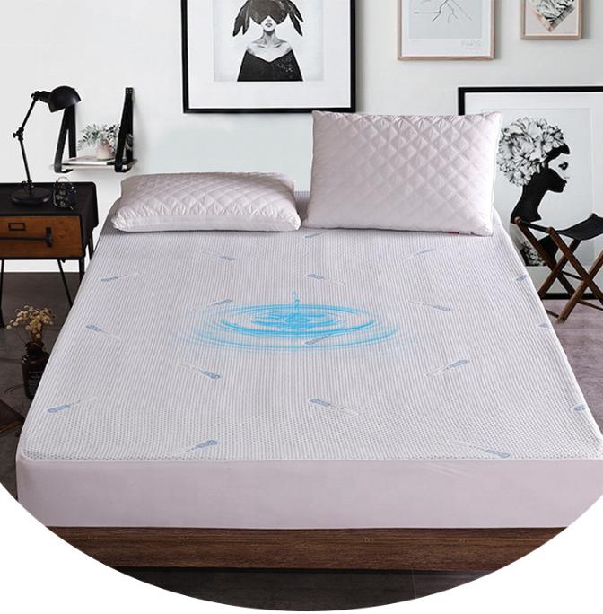 बिक्री के लिए होटल रजाई बना हुआ सफेद TPU निविड़ अंधकार बिस्तर गद्दे रक्षक