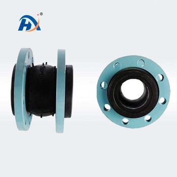 Soft connection single sphere galvanized flange rubber expansion joint/flexible rubber joint from china henan gongyi