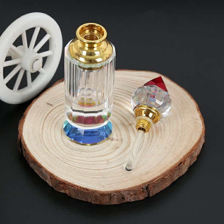 special design transparent crystal glass perfume bottle for arabic