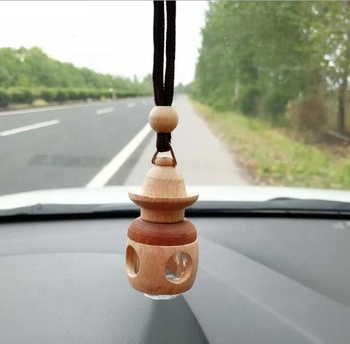 Creative car wooden pendant perfume bottle / car perfume bottle pendant