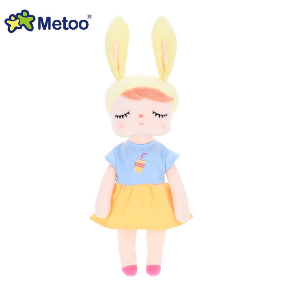 Кукла Metoo 34 см, плюшевый милый набитый Brinquedos, Игрушки для маленьких девочек на день рождения, рождественский подарок, 13 дюймов, кролик, девочк...(Китай)