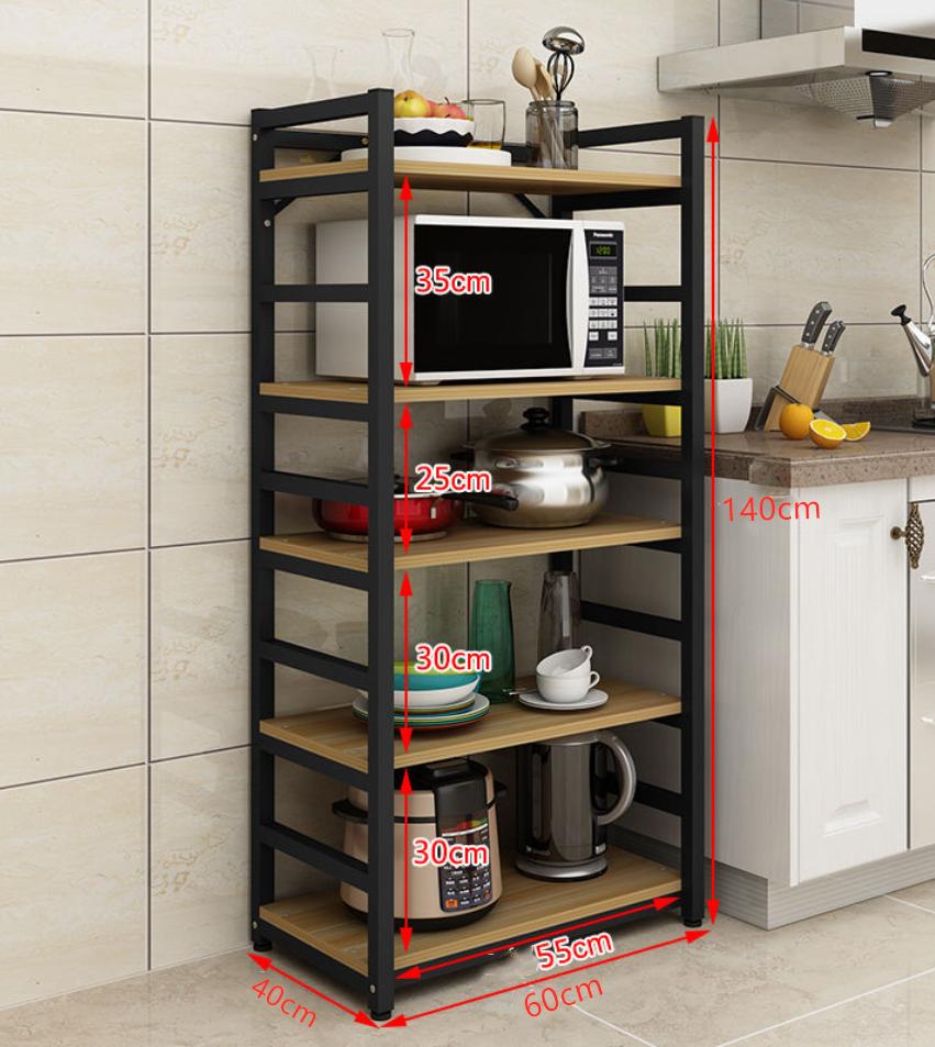 Latest New Design Orgnazier storage metal multilayer kitchen rack microwave oven stand Kitchen rack