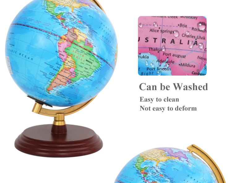 environment-friendly materials 20cm political district plastic ruler globe