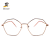2019 cheap gentleman spectacle metal new model optical glasses frame double bridge optical eyeglasses glasses frames