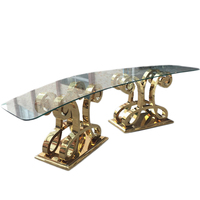 Wholesale event furniture transparent glass dining table
