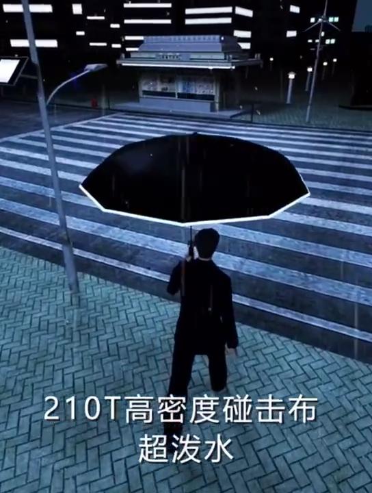 Cheap Price 12k Windproof Safety Reflective Umbrella 3 Folding Automatic Smart Reverse Umbrella Promotional