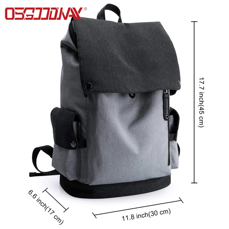 Osgoodway Water Resistant Classic Minimalist Style School Travel Backpack Bag for College Outdoor