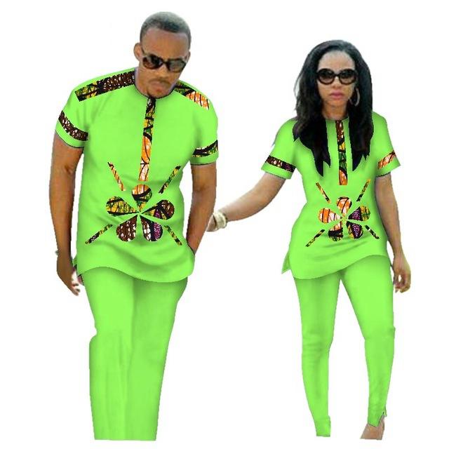 ขายส่งแบบดั้งเดิม Bazin Riche แอฟริกันพิมพ์ Patchwork ด้านบนและกางเกงชุดคู่ 2 ชิ้นชุดเสื้อผ้า WYQ84